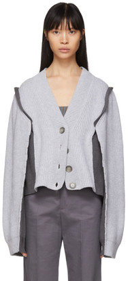 Maison Margiela Grey Wool Gauge 12 Cardigan