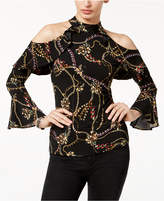 Thalia Sodi Ruffled Cold-Shoulder Top, Created for Macy's