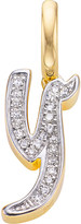 Monica Vinader Alphabet 18ct gold-vermeil and diamond pendant