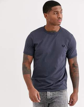 Fred Perry tonal ringer t-shirt in grey