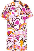 Emilio Pucci printed laced collared dress