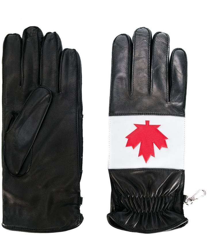DSQUARED2 maple leaf gloves