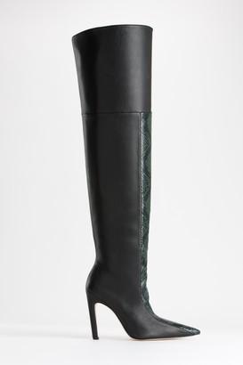 Good American The Koko Boot | Black Leather001