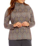 Investments Plus Essentials Turtleneck Long Sleeve Printed Top
