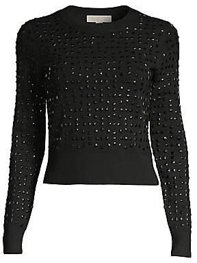 MICHAEL Michael Kors Women's Studded Crop Sweater