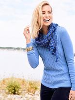 Talbots Shoulder-Button Aran Sweater