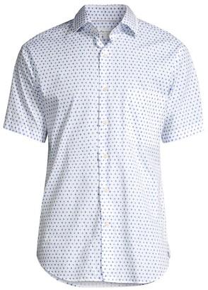 Peter Millar Catch Of The Day Geo-Print Shirt