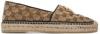 Gucci Beige Quilted Canvas GG Espadrilles