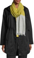 Eileen Fisher Cotton/Nylon Hooded Jacket, Black, Petite
