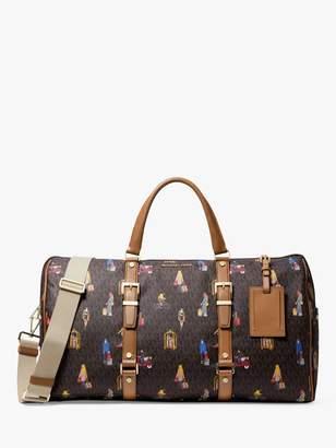 Michael Kors MICHAEL Bedford Travel Extra-Large Jet Set Girls Weekender Bag, Brown/Multi