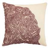 Blissliving Home Blissliving® Bahia Palace 14-Inch Square Throw Pillow in Burgundy