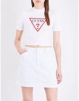 Guess X Asap Rocky Guess Originals x A$AP Rocky stretch-jersey cropped top