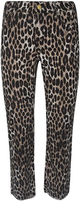 MICHAEL Michael Kors Cheetah Print Cropped Jeans