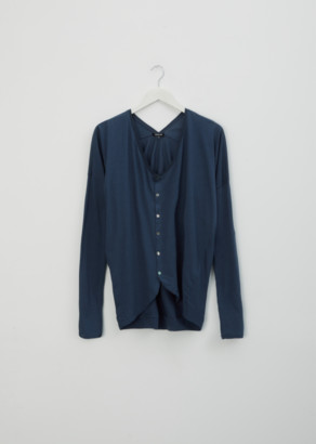 Pas De Calais Cotton Cardigan Top Blue