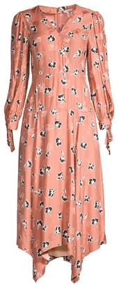 Rebecca Taylor Paintbrush Stretch-Silk Midi Dress