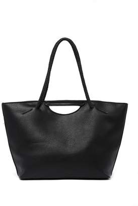 Deux Lux Braided Handled Tote Bag
