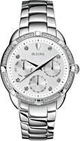 Bulova 36mm Diamond Chronograph Bracelet Watch