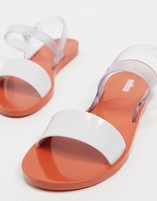 Melissa clear strap flat sandal