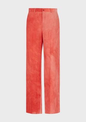 Emporio Armani Irregularly Dyed Palazzo Trousers