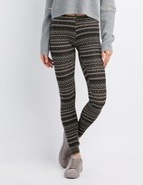 Charlotte Russe Printed Stretch Cotton Leggings
