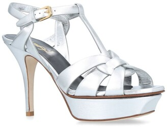 Saint Laurent Metallic Tribute Sandals 75