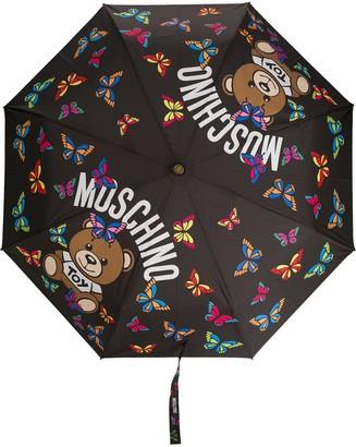 Moschino Butterfly Logo-Print Umbrella