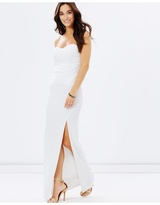 Strapless Evening Dress with Split