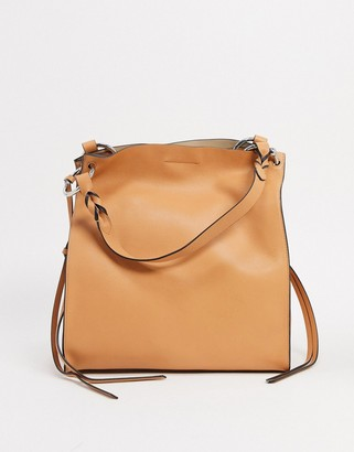Rebecca Minkoff kate leather tote bag in tan