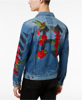 Hudson Nyc Men's Embroidered Rose Denim Jacket