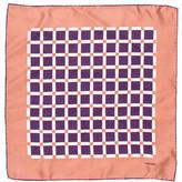 Tom Ford Silk Box Print Pocket Square