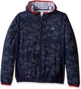 Lacoste Men's Tennis Stretch Taffeta Printed Jacket