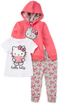 Weeplay Kids New Pink 'Hello Kitty' Three-Piece Legging Set - Toddler & Girls