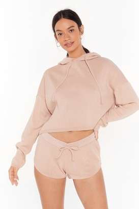 Nasty Gal Womens Warm Heart Knitted Jumper and Shorts Set - Beige - 6