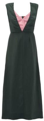 Colville - Layered-bodice Dress - Womens - Green Multi