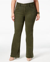 Melissa McCarthy Trendy Plus Size Flared Corduroy Pants
