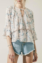 Moon River Layered Floral Top
