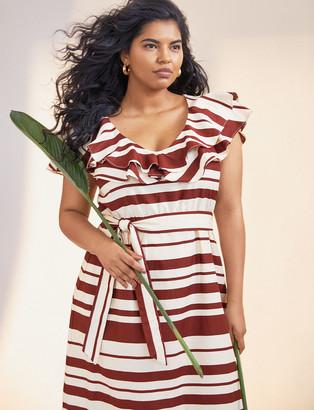 ELOQUII Ruffle Maxi Dress