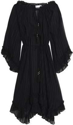 Zimmermann Metallic Cotton-blend Georgette Midi Dress