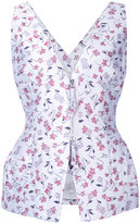 Altuzarra sleeveless peplum blouse