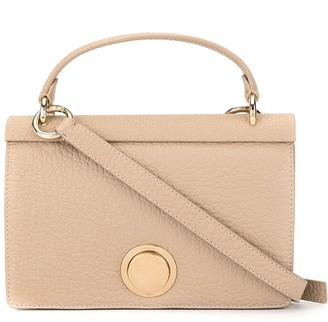 Giambattista Valli Pebbled Leather Foldover Top Tote