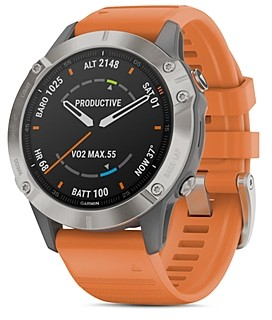Garmin Fenix 6 Ember Orange or Heathered Red Band Smartwatch, 47mm
