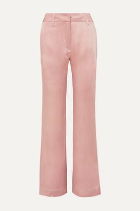 Ann Demeulemeester Satin Flared Pants - Pink