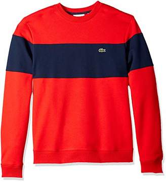 Lacoste Men's Crew Neck Colorblock Fleece Sweatshirt