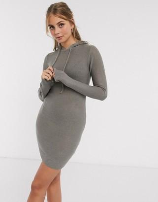 Brave Soul manhatan hoody dress in grey