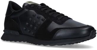 Valentino Garavani Leather Stud Running Sneakers