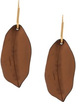 Marni leaf motif earrings