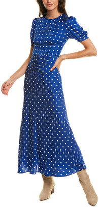 Self-Portrait Polka Dot Midi Dress