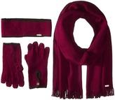 Calvin Klein Three-Piece Two-Tone Scarf/Headband/Gloves Set