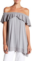 Paper Crane Off-the-Shoulder Popover Tunic
