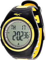 Everlast Pedometer Yellow/Black Silicone Strap Sport Watch